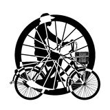 Wheel of ride Bicycle  Silhouette Vector Royalty Free Stock Photography