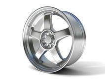 Wheel rim. On a white background Royalty Free Stock Image