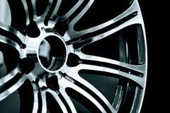 Wheel rim. Closeup photo of the chrome car rim Royalty Free Stock Images