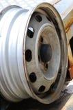 Wheel Rim. A photo taken on the rim of a car wheel at a garage Royalty Free Stock Image