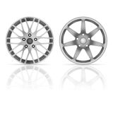 Wheel rim set Stock Image