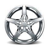 Wheel rim  on white Royalty Free Stock Photo