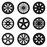 Wheel Rims Vector Set stock photography