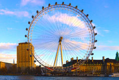 The Wheel on the river Thames Stock Photography