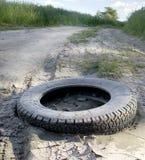 Wheel on road Stock Image