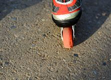 Wheel roller skate red Stock Image