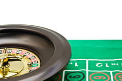 Wheel of roulette with a marble Stock Image