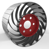 Wheel of the Rover Royalty Free Stock Photos