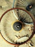 Bicycle tire rim stock photo