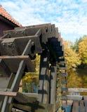 Wheel of a sawmill Stock Photos