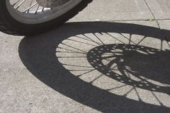 Wheel Shadow Stock Photos