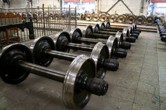 Wheel Shafts Of Trains Stock Photography