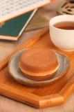 Wheel-shaped cake Stock Images