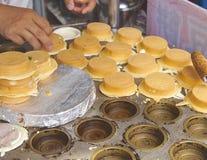 Wheel shaped cakes closeup in Taiwan Stock Photos