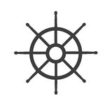 Wheel of ship icon. Isolated on white background Royalty Free Stock Photo