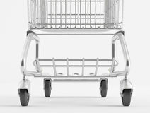 Wheel shopping trolley Stock Photography