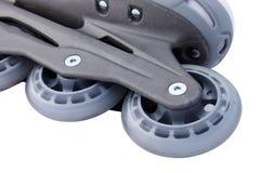 Wheel of skate. Close up of wheel of skate over white Stock Images
