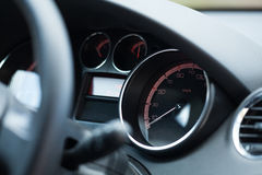 Wheel with speedometer Royalty Free Stock Photography