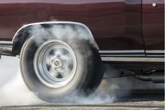 Wheel spinning Royalty Free Stock Photography