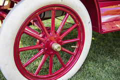 Wheel spoke vintage car white tire Stock Photography