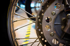 Wheel spokes. Accessories Motorcycle components stock image