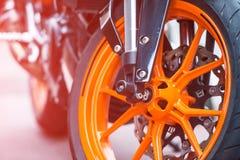 Wheel of sport bike Stock Image