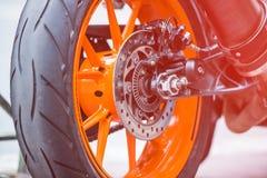 Wheel of sport bike Stock Photo