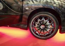 Wheel of sport car Stock Image