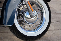 Wheel on a sport motobike Royalty Free Stock Images