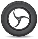 Wheel for a sports bike - vector. Stock Photos