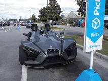 3 wheel sports edition bat mobile Look alike stock photo