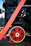 Wheel of steam locomotive Royalty Free Stock Photos