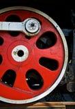 Wheel of steam locomotive stock photography