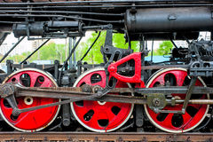 Wheel steam locomotive close up Stock Images