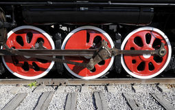 Wheel of Steam train Stock Photos