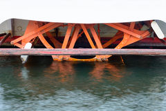 Wheel from a steamboat Stock Photography