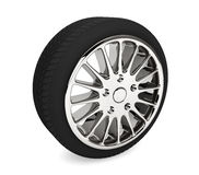 Wheel with steel rim. On a white background Stock Images