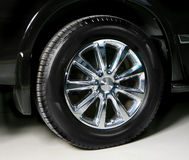 Wheel with steel rim Stock Photos
