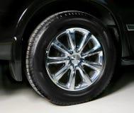 Wheel with steel rim Stock Photos