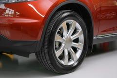 Wheel with steel rim Royalty Free Stock Photos