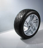 Wheel with steel rim Stock Images