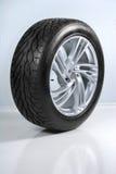 Wheel with steel rim Stock Photo