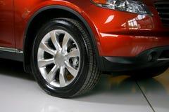 Wheel with steel rim Royalty Free Stock Image