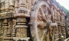Structure in Konark Temple Stock Photo