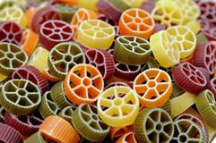 Wheel style pastas Royalty Free Stock Photography