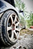 Wheel super car. Racing at the airport. Royalty Free Stock Image