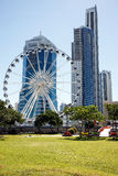 The Wheel of Surfers Paradise located on the top of the Transit Centre Royalty Free Stock Photo