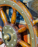 Wheel. Of a tall ship royalty free stock photo
