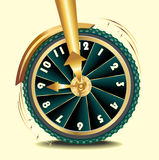Wheel of time Stock Image