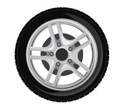Wheel and tire. For transport or service design Royalty Free Stock Image